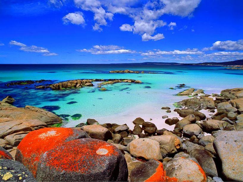 Bay of Fires, Tazmanya, Avusturalya