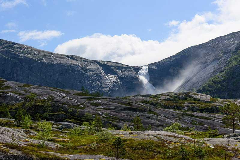 Sotefossen, Husedalen Valley Norveç